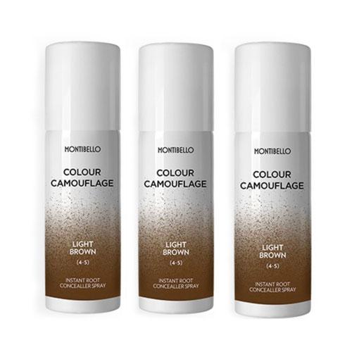 Montibello Root Spray Light Brown 3 Pack